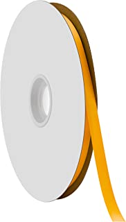 "product image for Offray Berwick 3/8"" Single Face Satin Ribbon, Gold Yellow, 100 Yds"