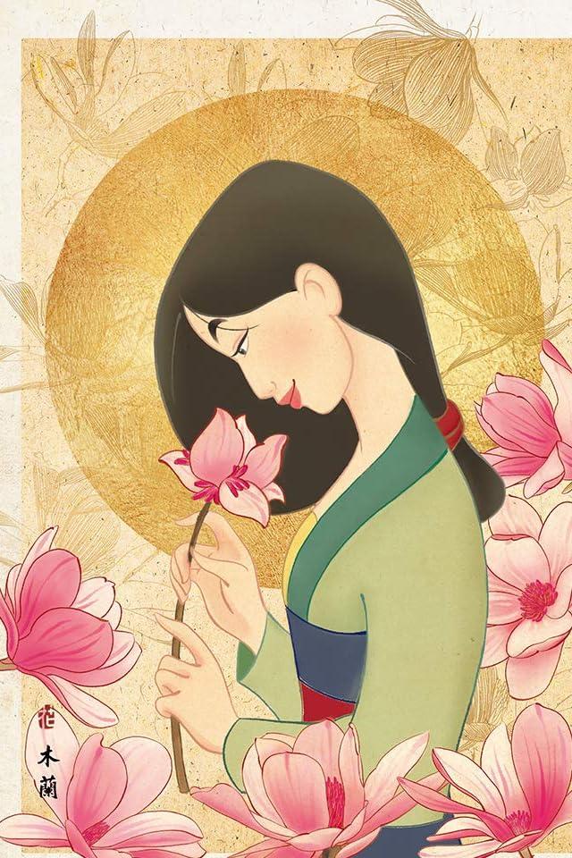 ディズニー ムーラン 花の香り iPhone(640×960)壁紙画像