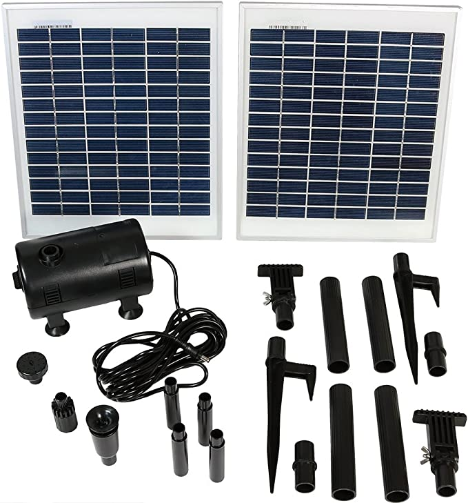 Sunnydaze Outdoor Solar Pump and Panel Fountain Kit