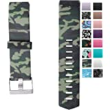 Charge 2 Elastomer Bracelet, Colors Sweat and Water Resistance Easy Cleaning Fitness Wristband, Fitbit Charge 2 Replacement Silicone Watchband Strap with A Surgical-Grade Stainless Steel Buckle