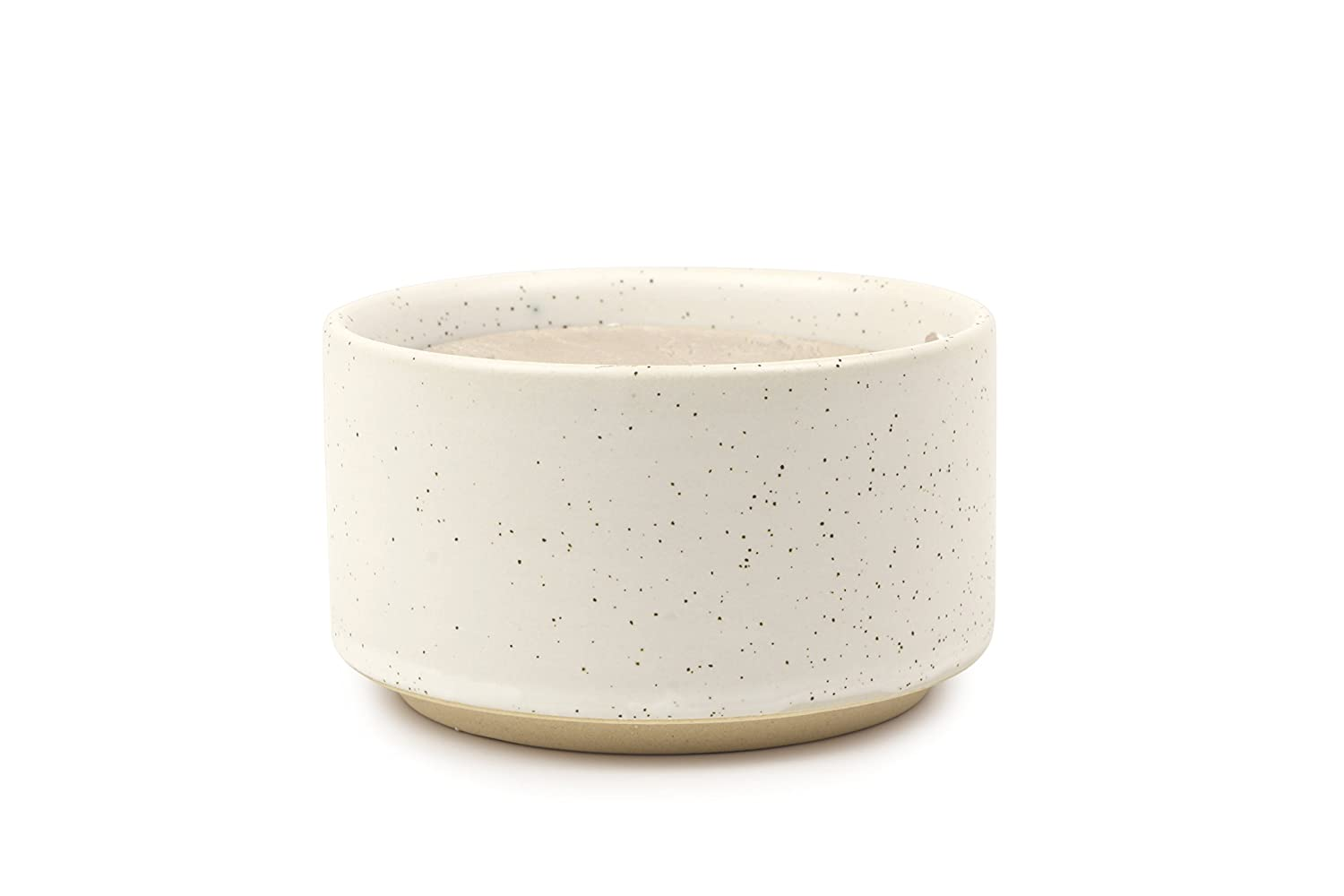 Paddywax Mesa Collection Scented Soy Wax Candle in Matte Speckled Ceramic, 3.5-Ounce, Cotton & Teak