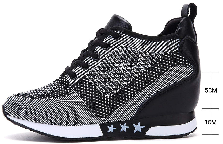 tqgold® Donna Scarpe da Ginnastica Sportive Fitness Basse Sneakers Zeppa Interna 8CM