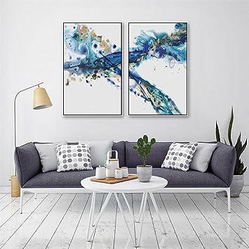 DONG Nach Hause Abstrakte Malerei Wohnzimmer Esszimmer Dekoration Gemälde  Zwei Teiliges Set , White Box ,