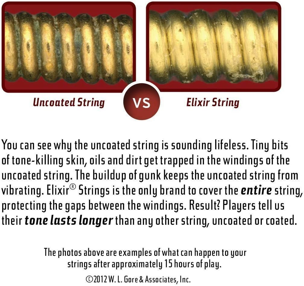 Light .045-.100 Long Scale Elixir Strings Stainless Steel 4-String Bass Strings w NANOWEB Coating