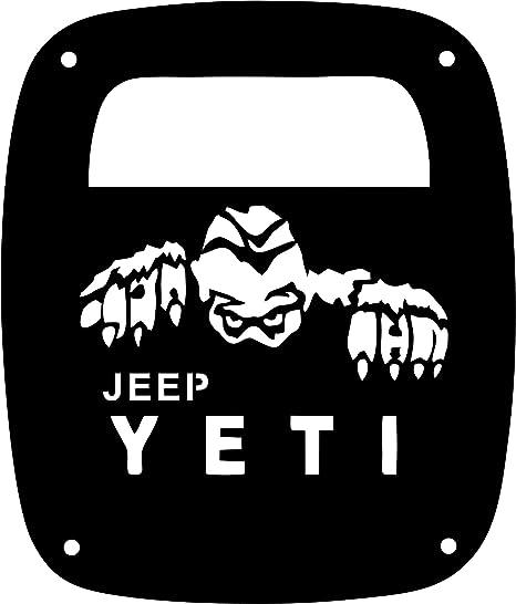 amazon jeeptails arctic yeti abominable snowman jeep cj or 2012 Jeep Wrangler jeeptails arctic yeti abominable snowman jeep cj or wrangler tail l covers black