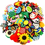 30,36,62,72,100pcs Different Trendy Shoe Charms for Crocs Girls Boys Women