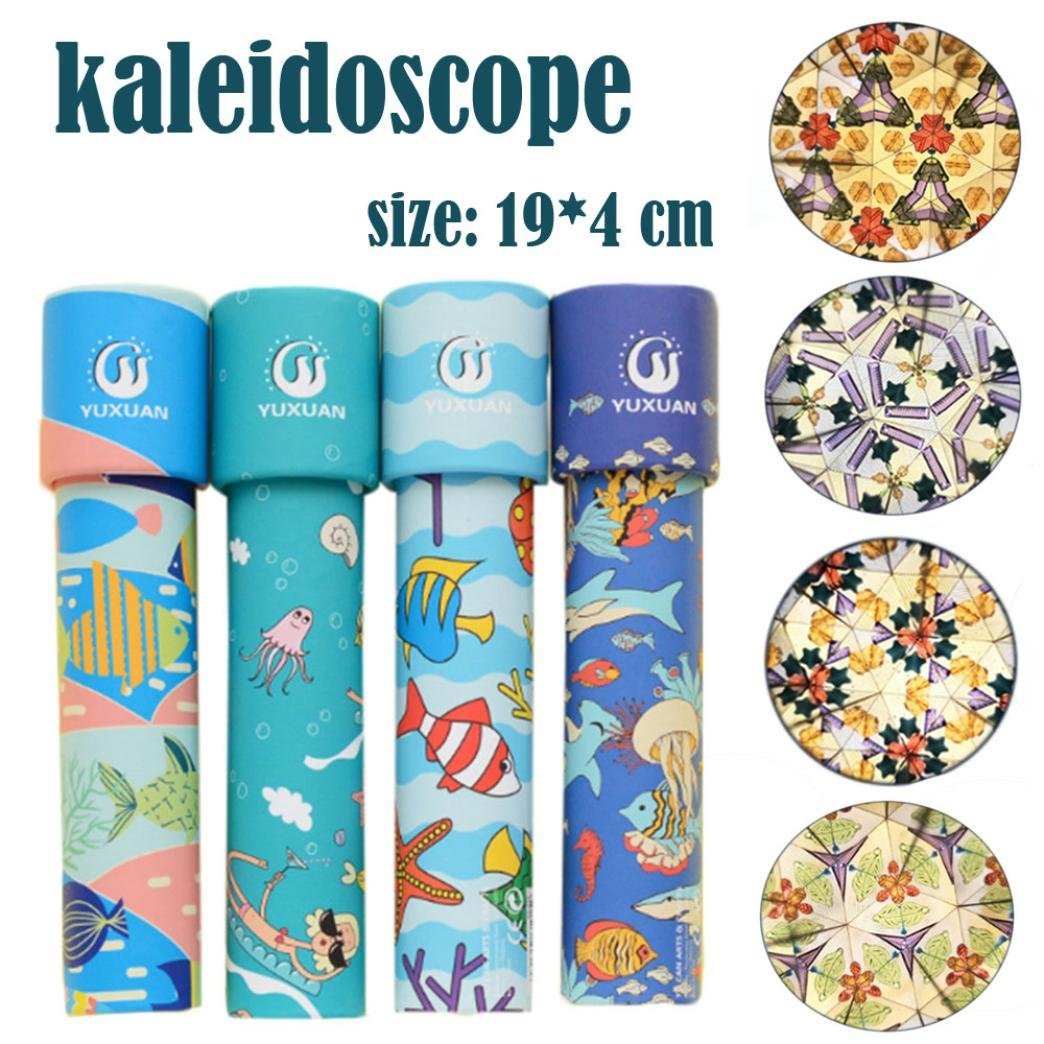 Gbell Amazing Beautiful Rotating Kaleidoscope Rotation, Fancy World Baby Toy for Kids,Babies (A)