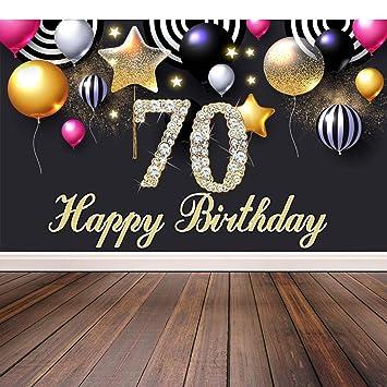U&X Decoración de la Fiesta del 70 cumpleaños, Extra Grande ...