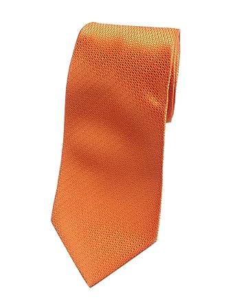 Towergem Extra Larga Corbata de Poliéster XL Naranja Color puro ...