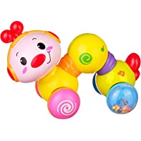 MKE Musical Toys for Baby Girls Boys Creeping Worm Musical Toys for Baby Newborn Kids with Lights and Twist Learning Toys