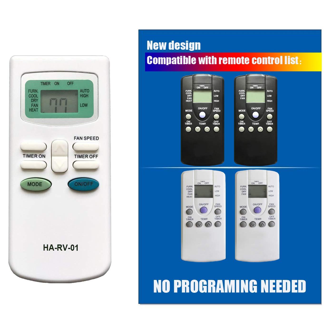 Replacement for Carrier Air V Airv Rv Air Conditioners Remote Control for 12-50095-00 12-50074-00 12-50152-00 68RV11302A 68RV14102A 68RV14103A 68RV14112A 68RV15102A 68RV15103A 68RV0010AA 68RV0010BA by Generic