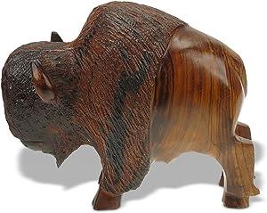 5in Long Buffalo Ironwood Art Carving - Lodge Decor