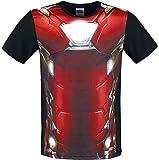 Captain America Civil War Iron Man Costume T-shirt noir