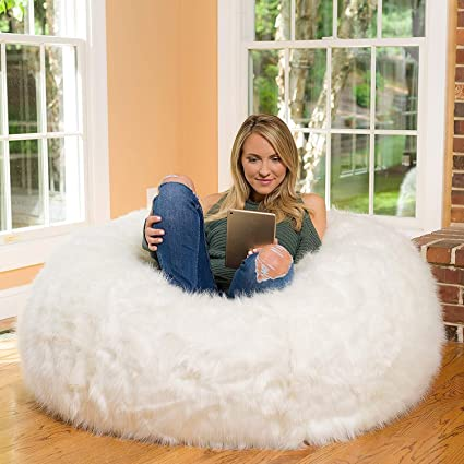 20f6e53d01d4 Image Unavailable. Image not available for. Color  FidgetGear Without Beans  Luxury Fur and Leather Bean Bag