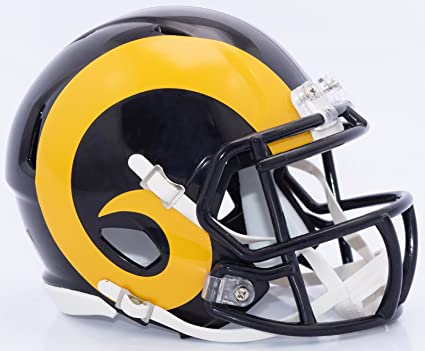 timeless design 46d4e 8f60b Amazon.com   Riddell LOS ANGELES RAMS NFL Revolution SPEED Football Helmet COLOR  RUSH   Sports   Outdoors