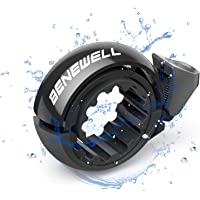 Benewell Fietsbel luide fietsbel, O-design, zwart voor fiets, fietsbel voor sturen van 22,2 - 31,8 mm