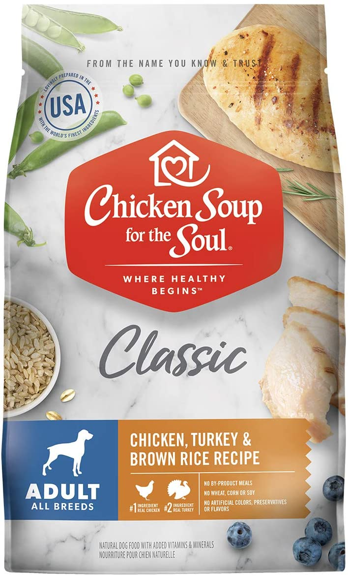 Chicken Soup for the Soul Adult Dry Dog Food - Chicken, Turkey & Brown Rice Recipe