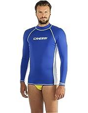 Cressi Rash Guard Maglia Protettiva in Tessuto Elastico, Maniche Lunghe, Uomo, Protezione Solare UV (UPF) 50+, Blu, L/4