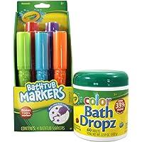 Crayola Bathtub Markers and Crayola Color Bath Drops, 60 tablets - Bring Creative Fun to Bath Time - Non-toxic