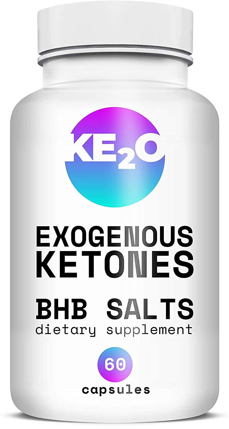 BHB Salts Exogenous Ketones – Best Weight Loss Pills with Beta-Hydroxybutyrate Salts – Advanced Keto Diet Supplements – Stomach Visceral Fat Burner for Men and Women, 60 Capsules
