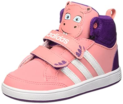 adidas Girls' Hoops Animal Mid In Walking Baby Shoes Multicolor Size: 5K
