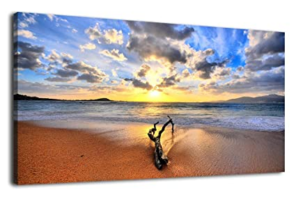 amazon com artewoods large canvas art prints ocean beach sunset