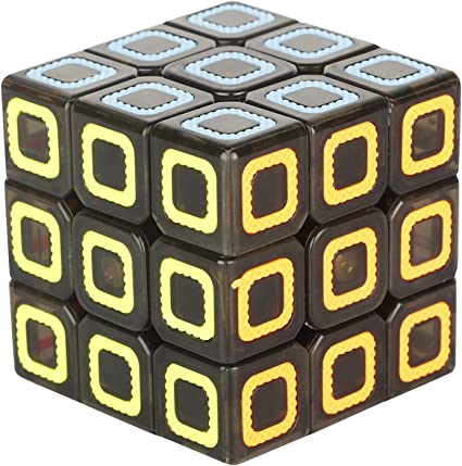 Krireen High Speed 3x3 Neon Colors Magic Cube Puzzle, Brain Teaser Puzzles