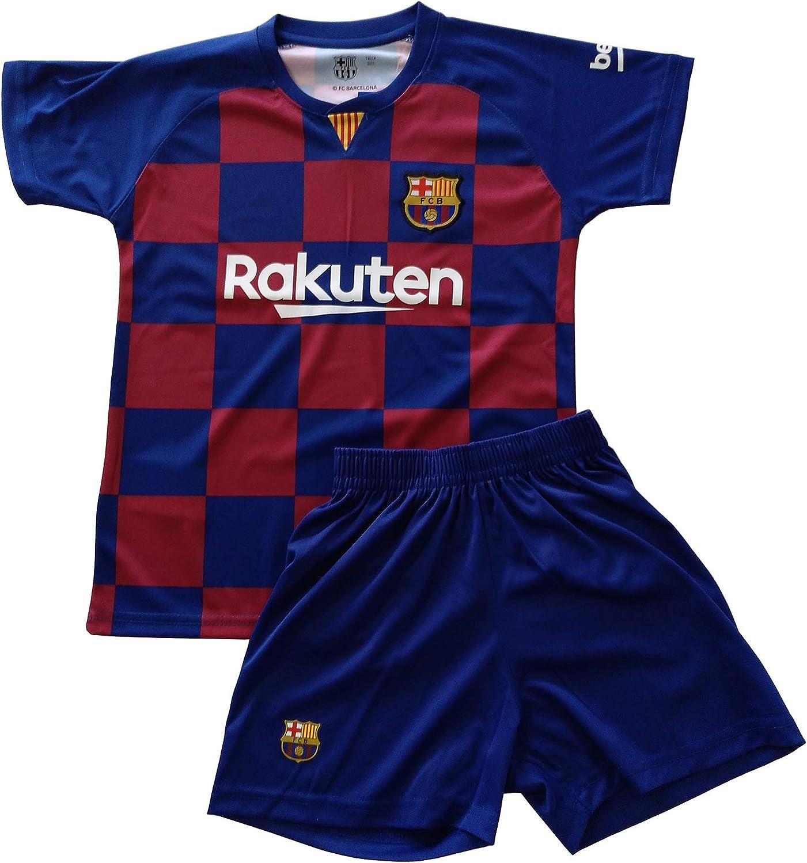 Conjunto Camiseta y pantalón 1ª equipación FC. Barcelona 2019-20 - Replica Oficial con Licencia - Dorsal Liso - Niño