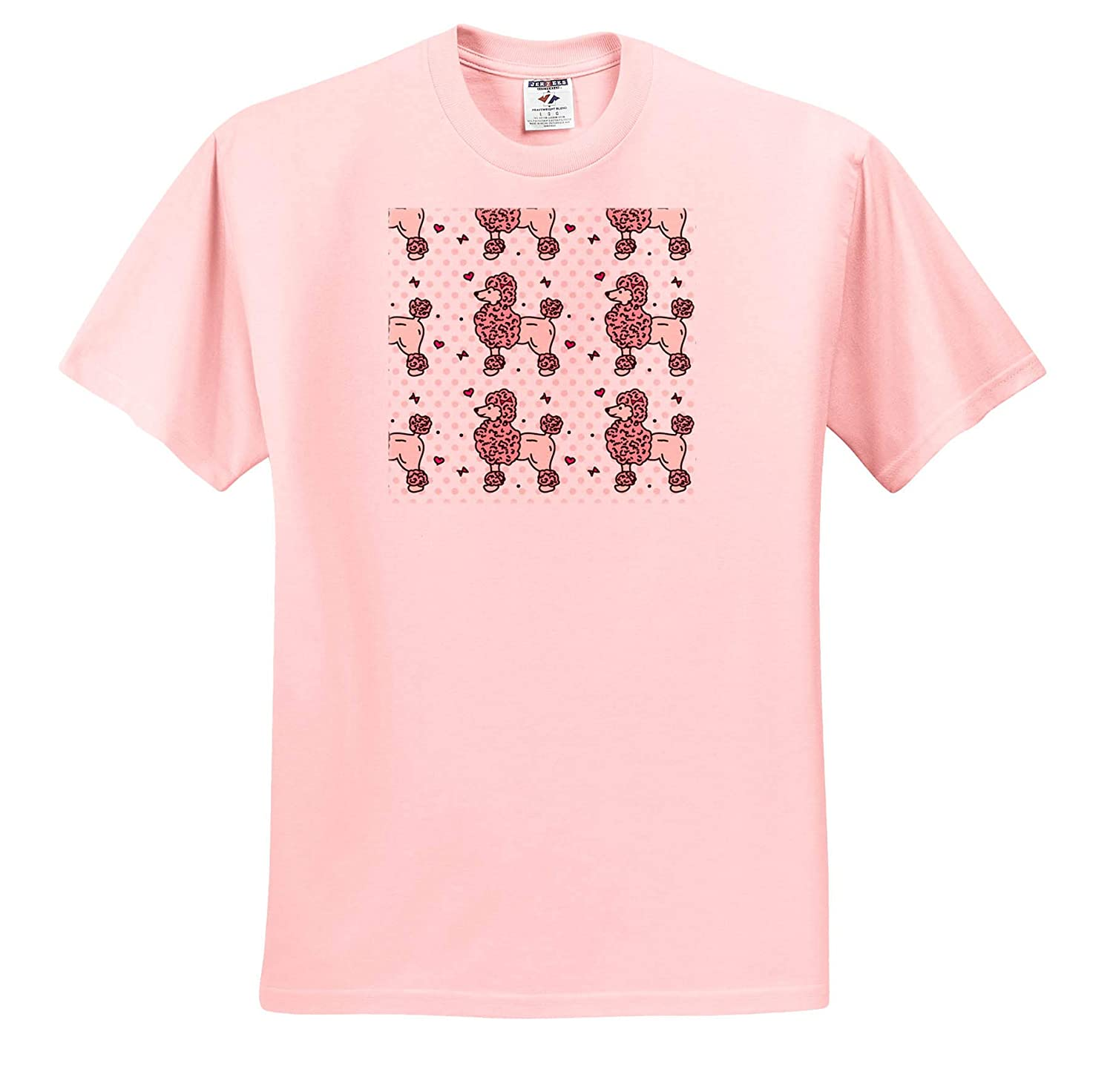 T-Shirts 3dRose Sven Herkenrath Animal Many Pink Poodle Dogs Pet on a White Background Gift