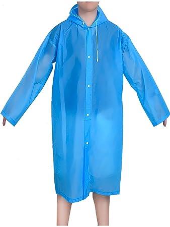 Amazon.com : Mudder Portable Drawstring Raincoat Rain Poncho with ...