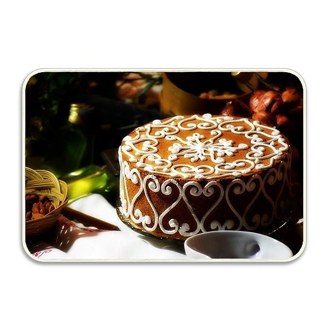 Amazon.com : Cake Pastry Cream Dessert Floor Mat Coral Fleece Home Decor Carpet Indoor Rectangle Doormat Kitchen Floor Runner 18