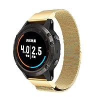 Garmin Fenix 5S Plus Watch Band, Sansee New milanese magnetica loop cinturino in acciaio INOX per Garmin Fenix 5Plus orologio
