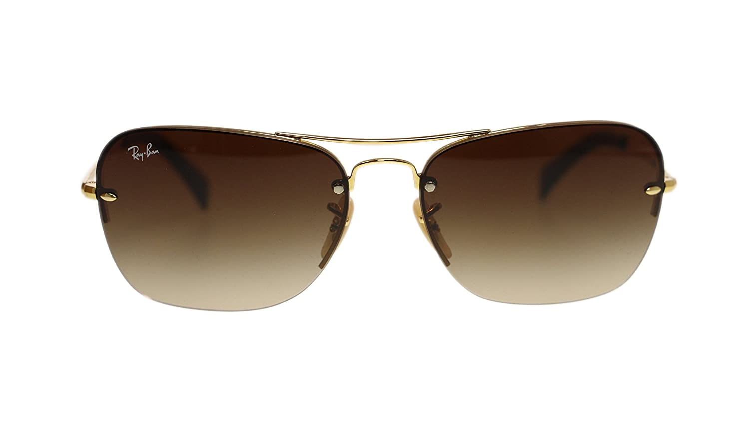 d4b20283c0569 Ray Ban Mens Sunglasses RB3541 001 13 Gold Brown Gradient Lens 61mm  Authentic  Amazon.co.uk  Clothing