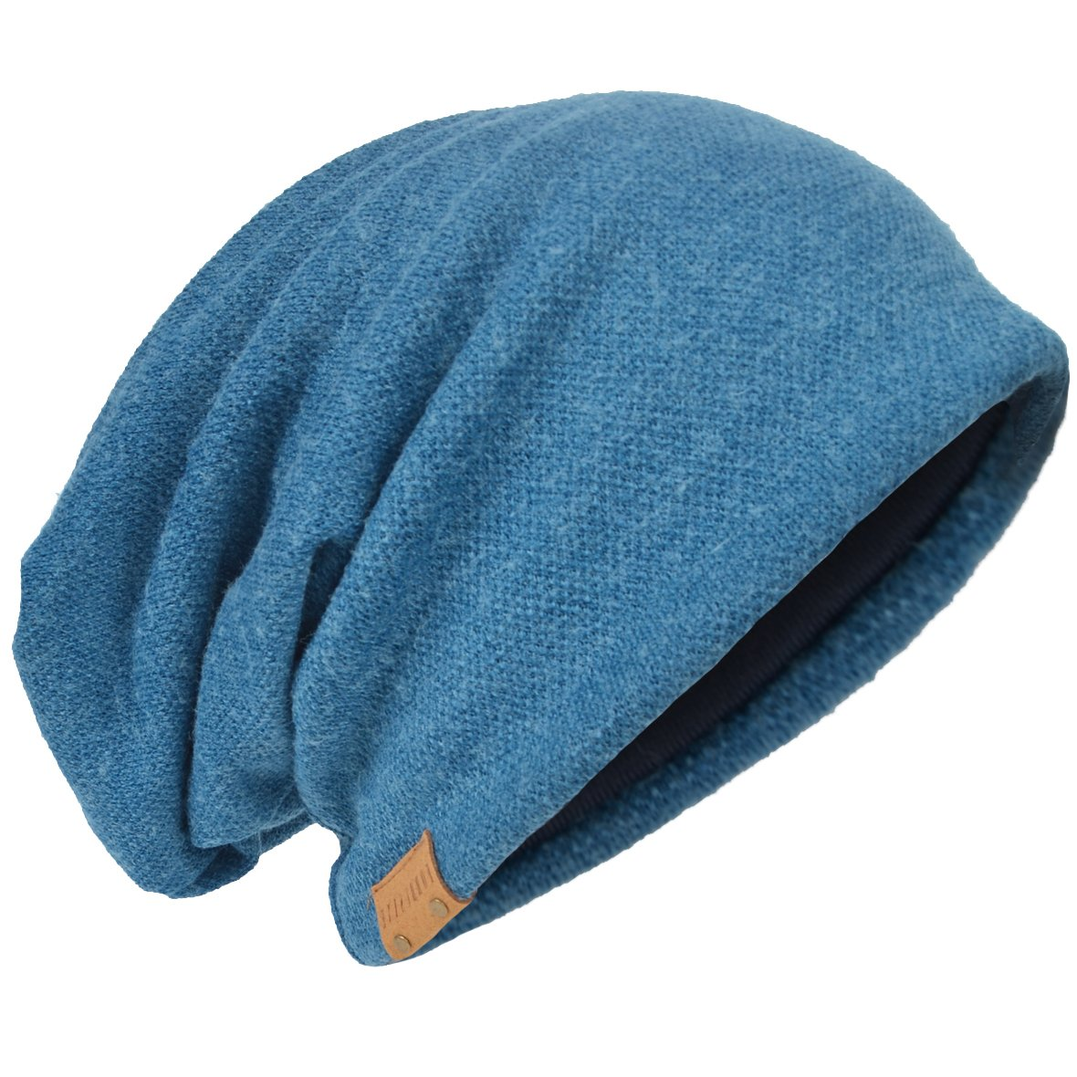 403ec2555e384c Oversize Slouch Beanie skullcap Blue 010b. Review - Z&s Men Oversize  Skull Slouch Beanie Large skullcap Knit Ski Hat B08 ...
