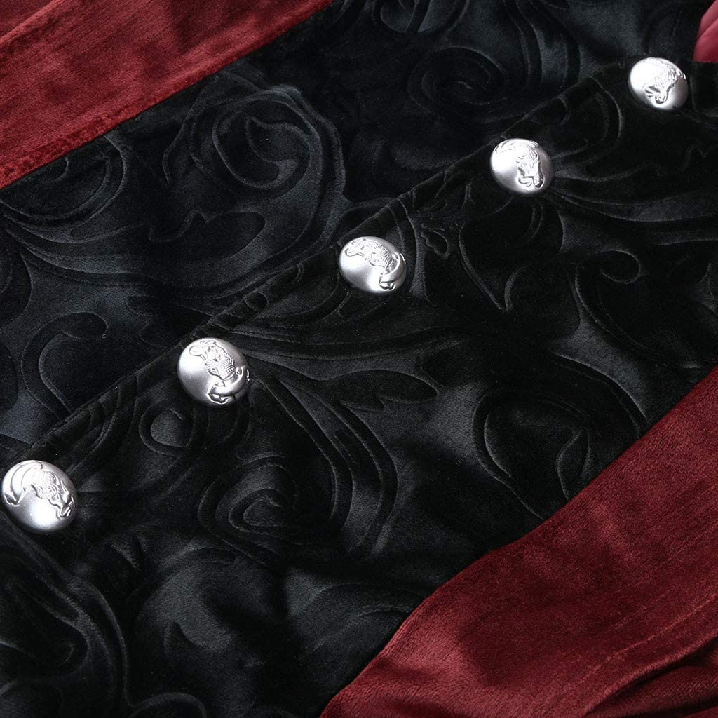 Willow S Mens Retro Gothic Evening Dress Stitching Lapel Irregular Hem Tuxedo Stage Dressing Banquet Jacket Black