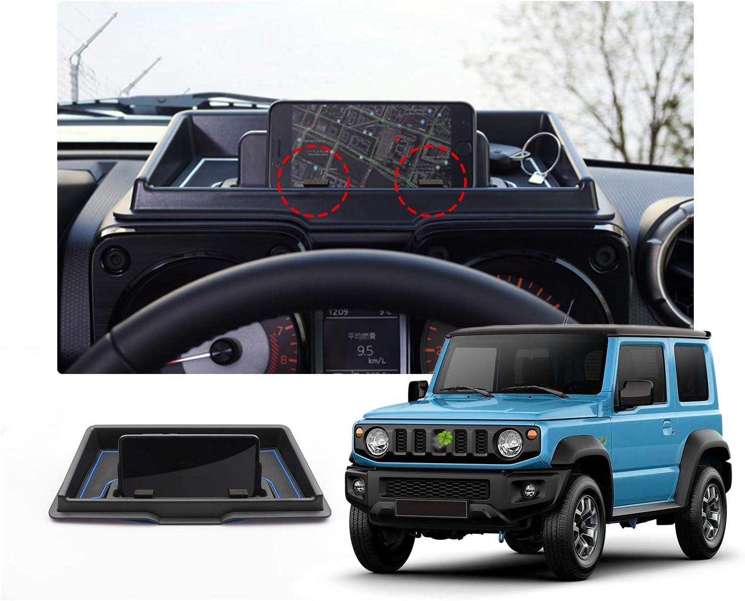 Blau rutschfeste Gummi Armaturenbrett Organizer RUIYA Jimny Sierra JB64 JB74 Aufbewahrungsbox Handyhalter Auto Instrumententafel Aufbewahrungsbox ABS