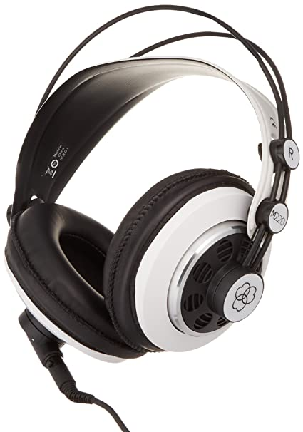 82354c89d13 Amazon.com: AKG M220 Pro Stylist Professional Large Diaphragm DJ Semi-Open  High Definition Over-Ear Studio Headphones - White: Home Audio & Theater