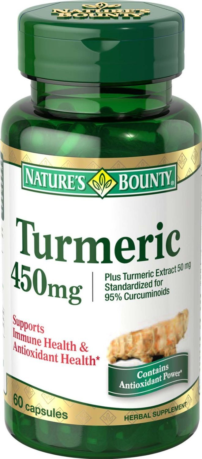 Nature's Bounty Turmeric/Curcumin, 60 Capsules, 450 Mg , Pack of 5