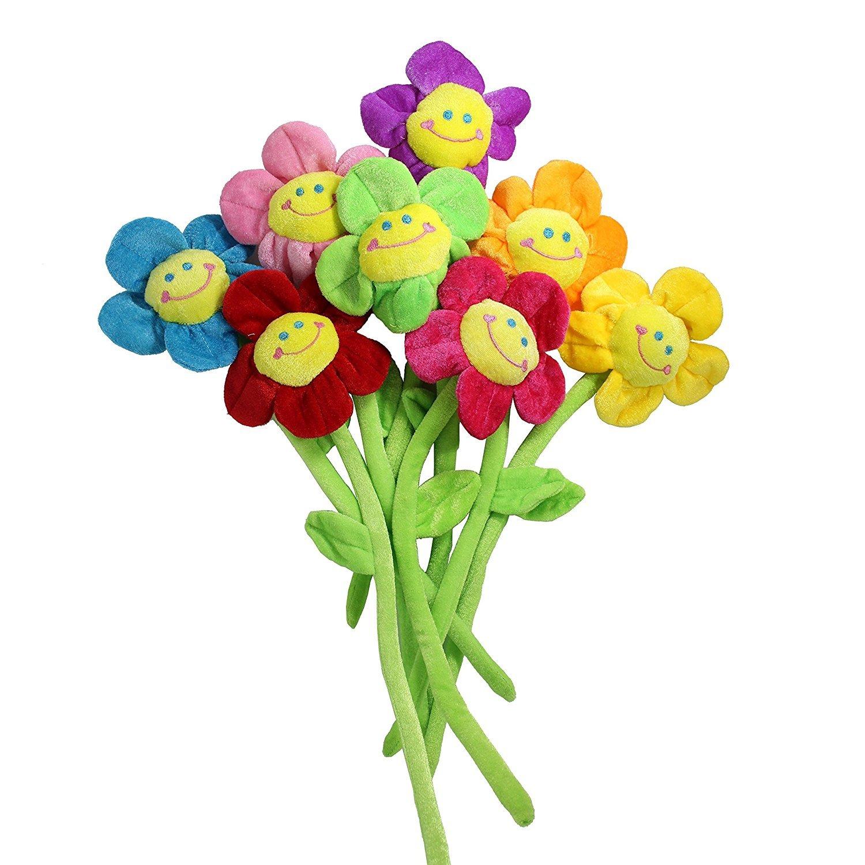 Amazon sunflower plush flower toy with bendable stems 26 8 amazon sunflower plush flower toy with bendable stems 26 8 piece home kitchen izmirmasajfo