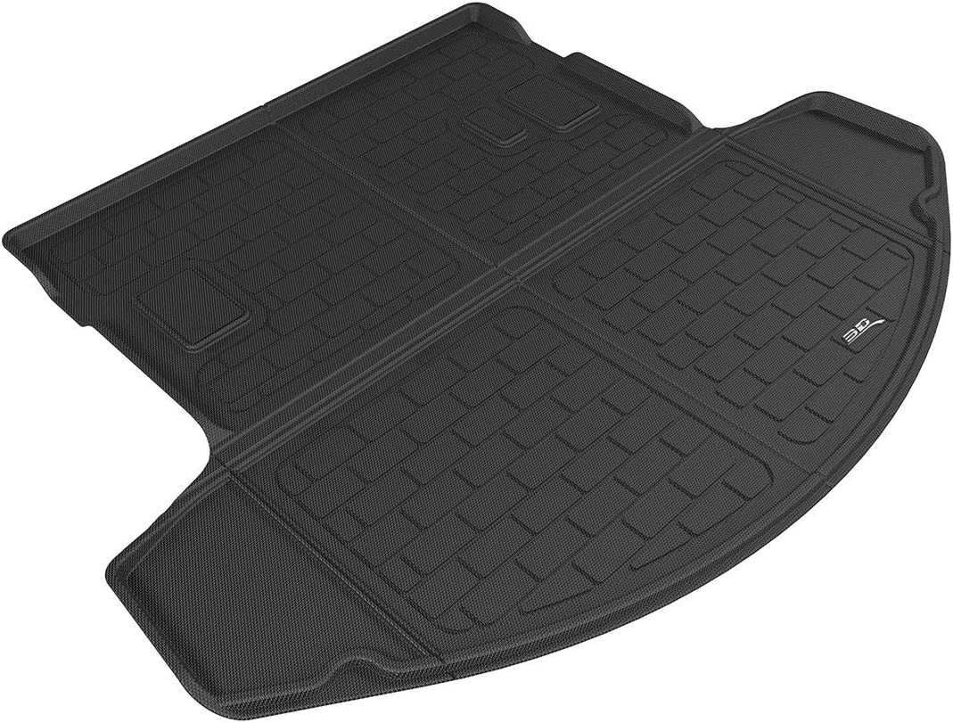 3D MAXpider Black Kagu Rubber M1MZ0571309 Cargo Custom Fit All-Weather Floor Mat for Select Mazda CX-9 Models