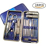 JCX 18 in 1 Stainless Steel Manicure Pedicure Nail Clipper Travel Set - Nail Cutter Scissors