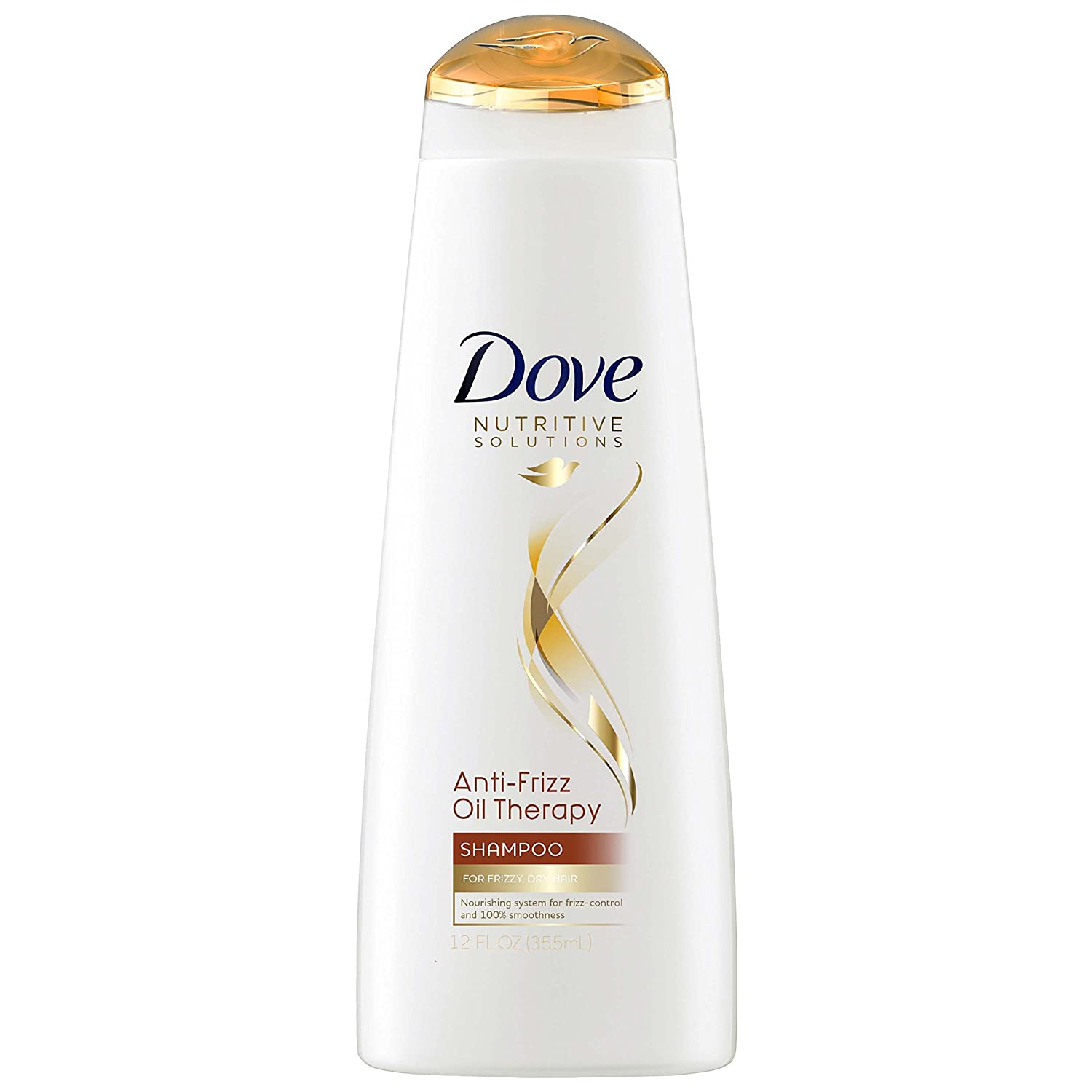 Dove Anti-Frizz Oil Therapy Shampoo With Almond Oil 12 oz(Pack of 2)