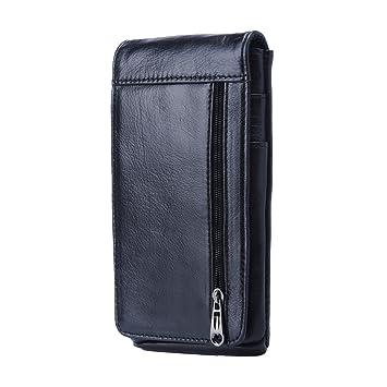 Hengying Vertical Funda para Cinturón Bolso de Cintura Hombre Cuero Cartera  para Teléfono Móvil de 5.5 quot 10c2ebb3a34e