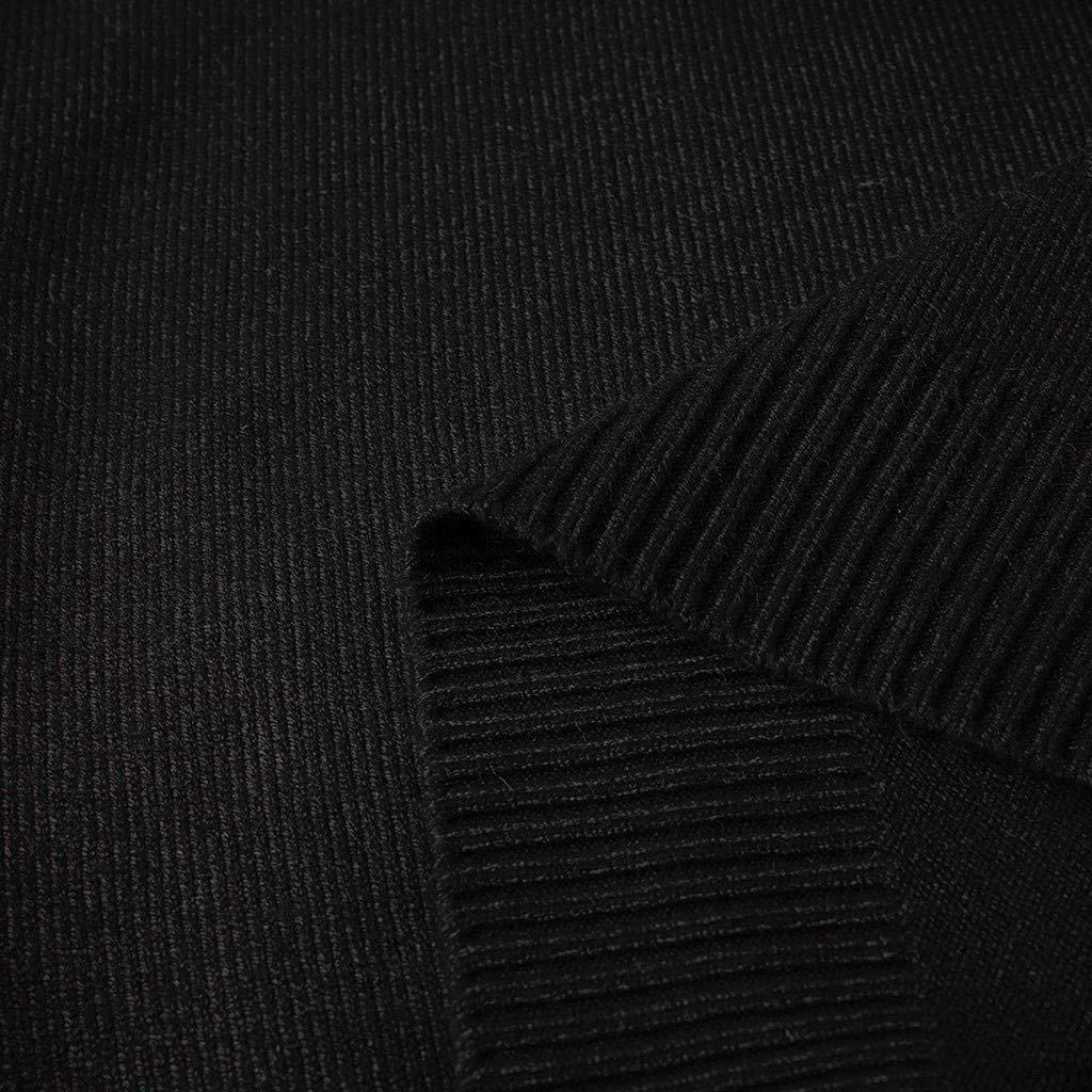 Knit Crew Neck Pull Homme POPLY Chandail en Tricot/é Ajust/é en Tricot Chaud de la Mode Sweatshirt Slim Fit