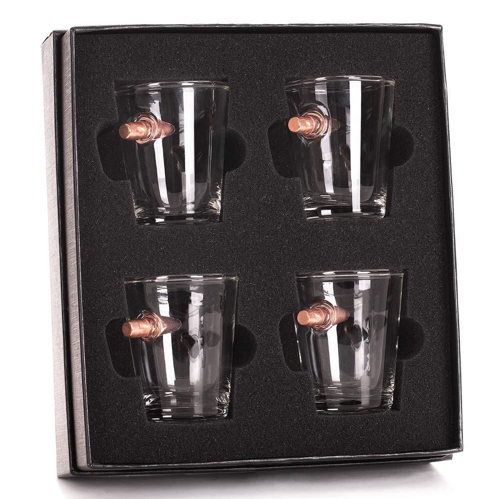 .308 Real Bullet Handmade Shot Glass Gift Set