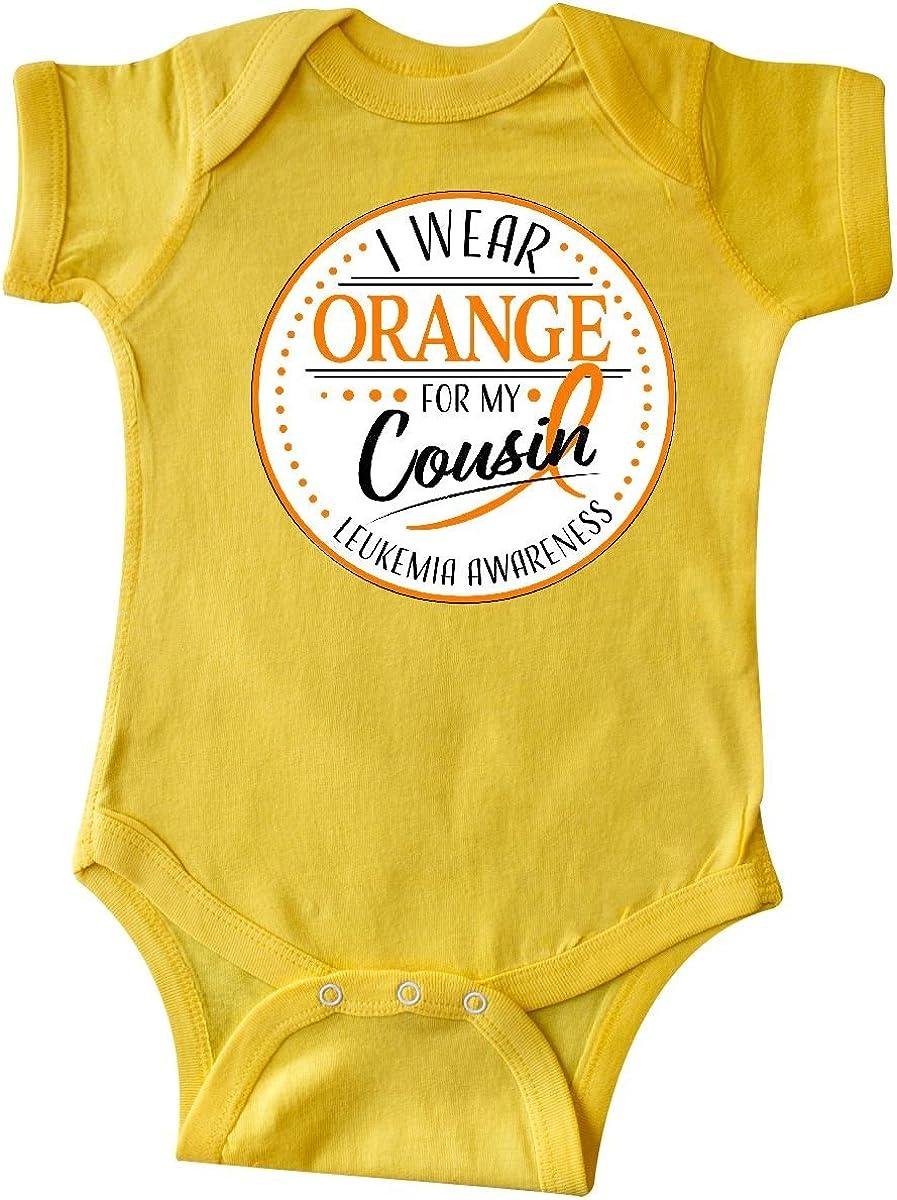 inktastic I Wear Orange for My TIO Leukemia Awareness Long Sleeve Creeper