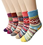 Amazon Price History for:Loritta Women's 5 Pairs Vintage Style Winter Knitting Warm Wool Crew Socks