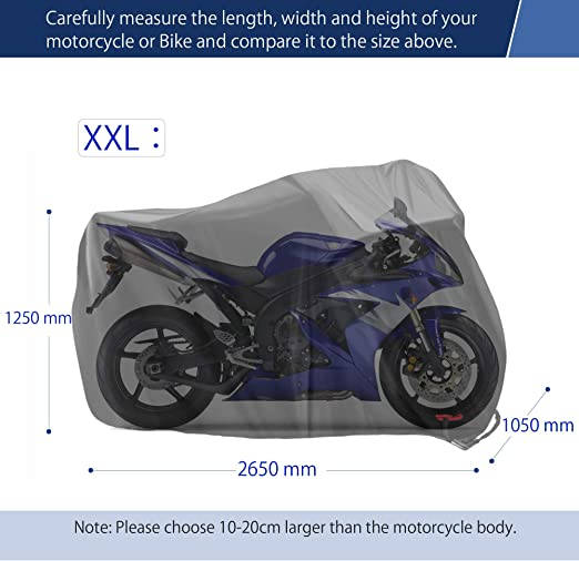 Rain Precision Fit up to 5.9 to 106 inch Tour Bikes All Season Universal Weather Protection Dust Dirt Bike,Motor Motorcycle Covers Waterproof Outdoor Storage,210D Waterproof Debris for Scooter
