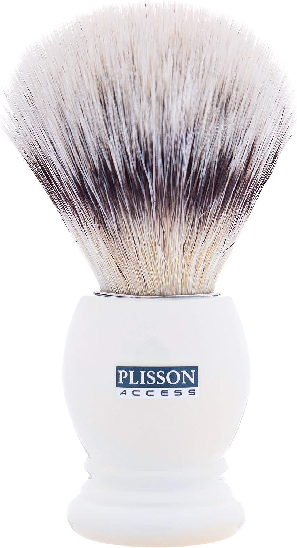 Plisson - Brocha de pelo blanco nacarado, fibra blanca, talla 12