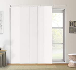 """Chicology Adjustable Sliding Panels Cut to Length Vertical Blinds, Up to 80"""" W X 96"""" H, Urban White (Light Filtering)"""